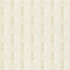 987-56511 Cream Scroll Stripe - Lorenza -  Mirage traditions IV Wallpaper Brewster