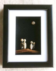 family pebble art by Nanika