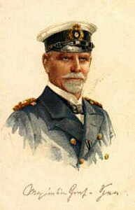 Vice Admiral Reichsgraf Maximilian von Spee, the German commander lost at the Battle of the Falkland Islands 8th December 1914 http://www.britishbattles.com/battle-of-the-falkland-islands/