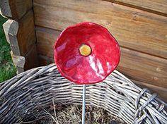 fleurs raku rouge