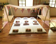 tenda-gigante-festa-do-pijama-menina-locacao-barraca Slumber Party Birthday, Jungle Theme Birthday, Sleepover Birthday Parties, Girl Sleepover, Pj Party, Girl Birthday, Daisy Party, Table D Hote, Teepee Party