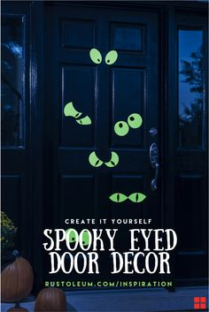 Are you looking for a simple DIY way to decorate your yard or entryway for Halloween? Rust-Oleum Specialty Glow-in-the-Dark Spray Paint makes it easy and fun to spook trick or treaters and passer byers! Add these spooky glow-in-the-dark eyes to your doorway or trees this Halloween season with Rust-Oleum Specialty Glow in the Dark MAX Spray Paint and this easy tutorial.