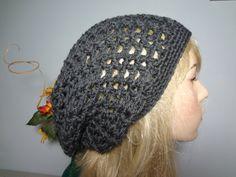 Open Weave Slouch Tam Hat Snood Beret  Great Summer by yarnnscents, $15.00
