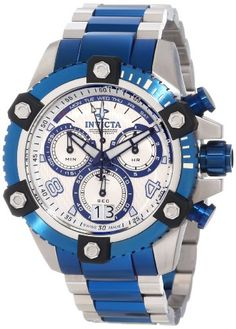 Invicta 11181 Men's Reserve Arsenal Silver Tone Dial Two Tone Bracelet Chronograph Watch.. Seeing is Believing! http://www.squidoo.com/workshop/invicta-watchesformen-review