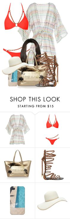"""""""8/14/1)"""" by jasmineharper ❤ liked on Polyvore featuring Calypso St. Barth, Agent Provocateur, River Island, Giuseppe Zanotti and Forever 21"""