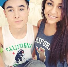 I found a new boyfriend! His name is Kian Lawley (he's a youtuber) and he's dating Andrea Russet (the girl on the right), who is my face claim!