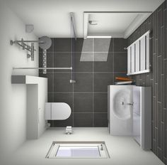Design small bathroom in common dimensions: 2 x 2 meters. Everything about color . Bathroom Floor Plans, Loft Bathroom, Bathroom Toilets, Bathroom Layout, Bathroom Interior, Luxury Bathroom Vanities, Bathroom Design Software, Bedroom False Ceiling Design, Small Toilet