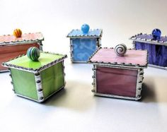 CUSTOM ORDER - Tiny Stained Glass Boxes