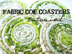 Fabric Coil Coasters...would love to do these with primitive homespun fabrics