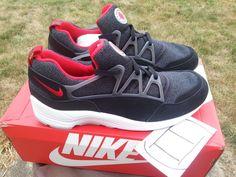 Nike Air Huarache Light Black/Red/Grey White Shoes Size 12 NIB