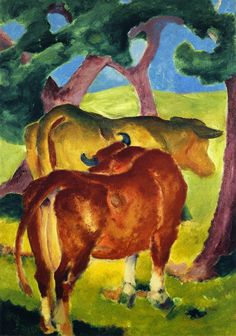 Franz Marc, Cows under Trees, 1910-1911 Franz Marc, Kühe unter Bäumen, 1911 Kunstmuseum Mühlheim an der Ruhr