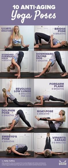 10 Anti-Aging Yoga Poses to Reduce Stress and Cortisol Levels - Sport - Workout - Fitness-Joga - Pilates Yoga Fitness, Health Fitness, Health Yoga, Enjoy Fitness, Ballet Fitness, Yoga Routine, Yoga Inspiration, Motivation Inspiration, Easy Yoga Poses