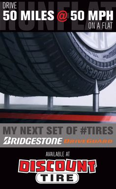 PIN it to WIN it! Click on the image to enter our contest to win a set of 4 Bridgestone Driveguard #runflat tires. Learn more about the revolutionary #driveguard at http://discountti.re/driveguardcontest