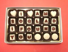 Valentine day gift for him herPersonalized Marble by chocolatesays, $24.99