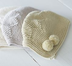 Capota estrella de algodón en punto bobo | Nottocbaby Baby Hats Knitting, Knitting For Kids, Free Knitting, Knitted Dolls, Knitted Hats, Knitting Patterns, Crochet Patterns, Crochet Cap, Baby Bonnets