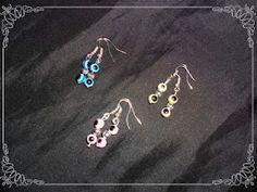 Pendientes de ojitos...  Colores disponibles: rojo, negro, rosa, verde, amarillo, azul oscuro, celeste, lila y marrón.