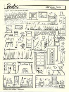 miss missy paper dolls: vintage barbie drawing guide portfolio ... - Barbie Dream House Coloring Pages