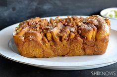 Caramel pumpkin apple pull-apart bread