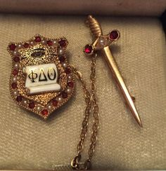 1889 Phi Delta Theta Fraternity Pin - Harry S. Robinson - Pennsylvania Alpha