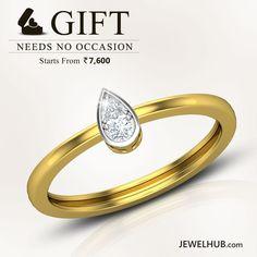 JEWEL HUB - Gift Needs No Occasion | Starts From Rs. 7,600/-  http://www.jewelhub.com/diamond-rings.html