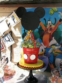 Mickey Mouse Candy Table | few months ago, I was asked to create a Mickey Mouse candy buffet ...