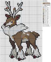 Pokemon - Sawsbuck by Makibird-Stitching