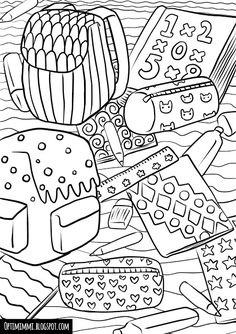 Back to school (a coloring page) / Takaisin kouluun (värityskuva) School Coloring Pages, Coloring Pages For Kids, Doodle Coloring, Coloring Sheets, School Notes, School Colors, Third Grade, Back To School, Doodles
