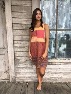 Alessandra dress- small medium-artsy-Eco Clothing-Upcycle Clothing-Free People inspired-by Love HIGHER Handmade Clothing #dress #upcycle #refashion #handmade #fashion #alteredcouture #freepeople #artsy #ecofriendly #affiliate