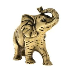 Elephant Statue Brass Collectible Indian Figurines