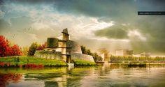 建築のレンダリング実演:水辺の建築 | 建築プレゼンの道標