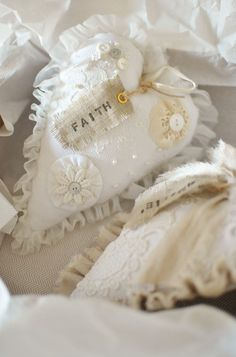 I love the little hand made tag on this heart!