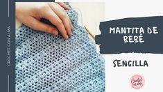 Preciosa y muy delicada manta de bebe a crochet, esta sencilla puntada calada será muy rápida de realizar, aprende a tejer con Arantxa - Crochet con a Manta Crochet, The Creator, Youtube, Crochet Blankets, How To Knit, Crochet Bedspread Pattern, Youtubers, Blanket Crochet, Youtube Movies