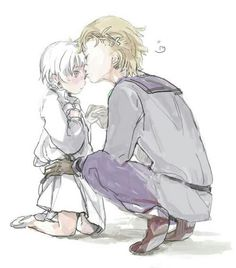 Image result for hetalia norway and baby iceland