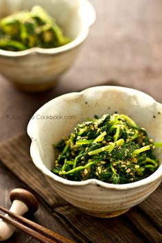 Spinach Gomaae | Spinach with Sesame Sauce @ JustOneCookbook.com