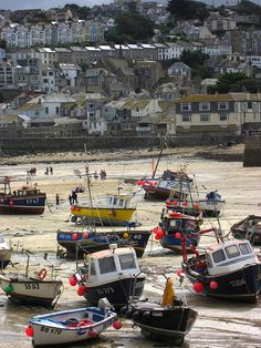 Ives, Cornwall - lots of art galleries, potteries, museums and beautiful beaches St Ives Cornwall, Devon And Cornwall, British Seaside, British Isles, St Just, South West Coast Path, Fishing Boats, Ice Fishing, Fishing Tackle