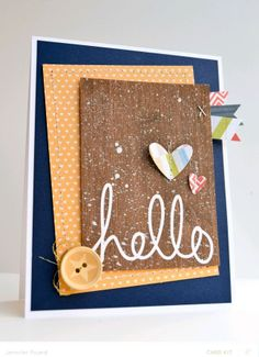Hello *card kit only by JennPicard at @Studio_Calico Jan 2014 kit