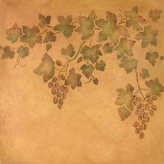 Grape Ivy Vine Stencil Set