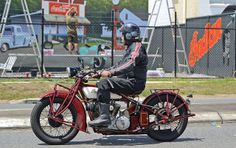 Darryl White rides an 1928 Indian 101 past the Indian Motorcycle Museum Of Australia opens on March 15 at 419 Newman Rd, Geebung. Read all about it on MotorbikeWriter.com (http://motorbikewriter.com/indian-motorcycles-museum-opens/).  Photos by David Cohen - Ultragraphics.com.au