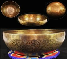 Tibetan Singing Bowl Hand carved with Buddhist patterns Hand hammered 12 5 cm Tibet, Bowl Set, Singing Bowl, Hand Carved, Decorative Bowls, Carving, Handmade, Gifts, Ebay