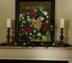 BethlehemLights BatteryOperated 24 Glittered Poinsettia Christmas