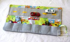 Toy Car Carrier Play Mat, Car Wallet Toy for Boys - Best Diaper Bag Toy ever