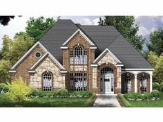 rock brick homes    tudor house plan - #alp-09k2 - chatham