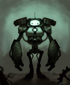 *sobs* -- Sad Robot by *Poo-Pickle on deviantART