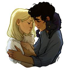 """""""I'll be looking for you, Will, eve… // His Dark Materials, Will and Lyra by meabhd Fanart, Will Parry, His Dark Materials Trilogy, His Dark Materials Daemon, Lyra Belacqua, Character Inspiration, Character Art, Character Prompts, The Golden Compass"""