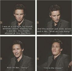 Oh, Eddie!! Hahaha...(btw, minus the being in the movie part, this totally…