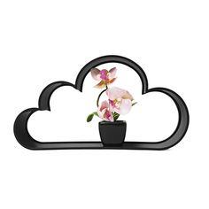 Gelukkig valt er geen regen uit deze wolken! Het zijn schappen waar je grappige spulletjes in kunt zetten! Per set krijg je 2 schappen.