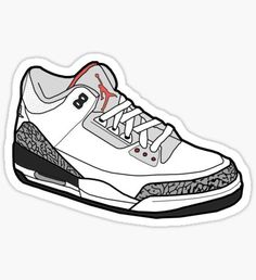 Sneaker stickers featuring millions of original designs created by independent artists. Meme Stickers, Tumblr Stickers, Cool Stickers, Sneakers Wallpaper, Shoes Wallpaper, Jordan 3, Graffiti Doodles, Logo Nike, Preppy Stickers