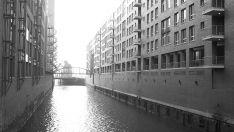 Hamburg in schwarz und weiß