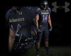 6fcde51aa58 Northwestern University Wildcats Football Gothic uniforms October 2014 by Under  Armour Nebraska Cornhuskers