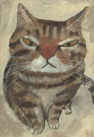 Cat portrait by Tetsuo Takahara (Japan, b. 1958)